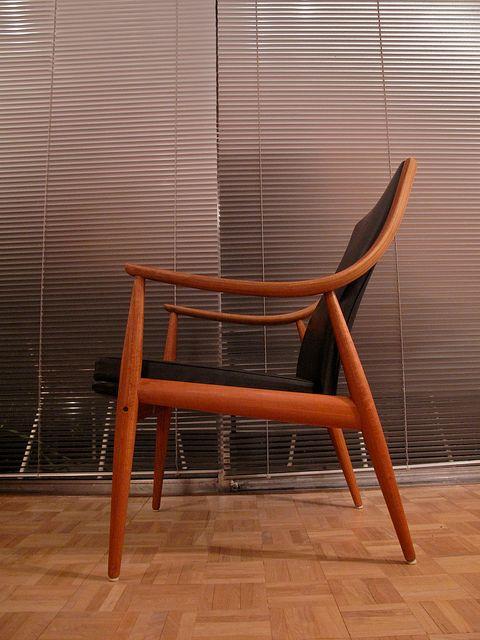 lounge stuhl von peter hvidt orla molgaard nielsen 1956 bei pamono kaufen. Black Bedroom Furniture Sets. Home Design Ideas