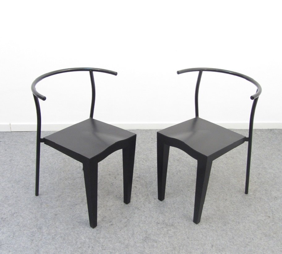 vintage dr glob chairs by philippe starck for kartell 1988 for sale at pamono. Black Bedroom Furniture Sets. Home Design Ideas
