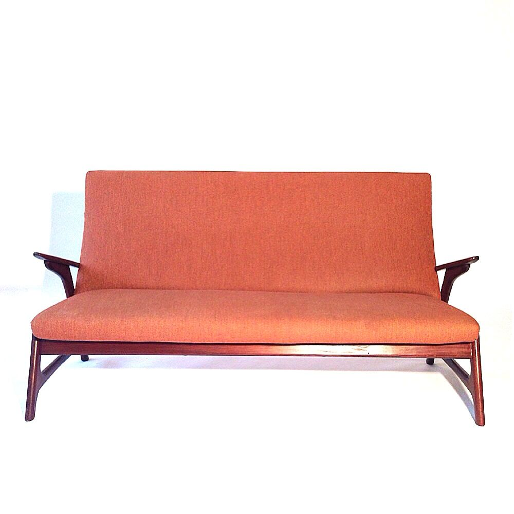 Vintage Salmon Pink Sofa From Pastoe For Sale At Pamono
