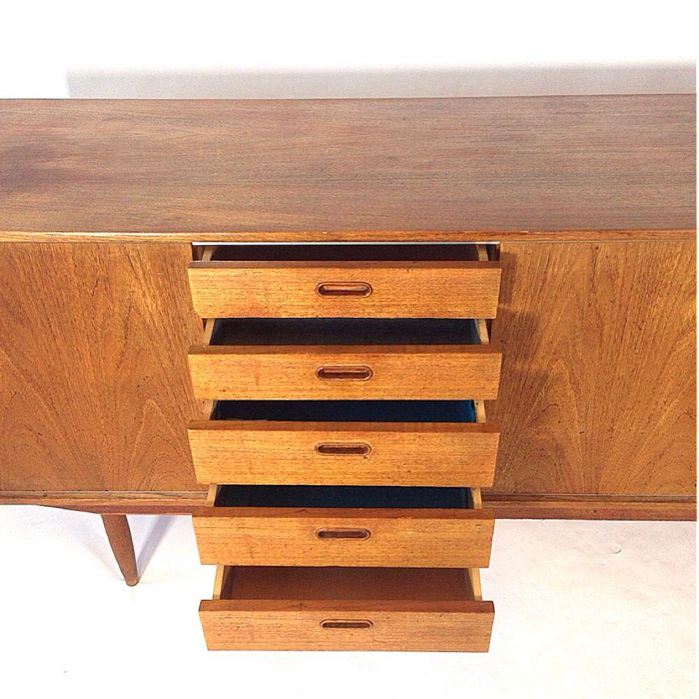 Mid century scandinavian teak sideboard 1950s for sale at for Sideboard 220 cm
