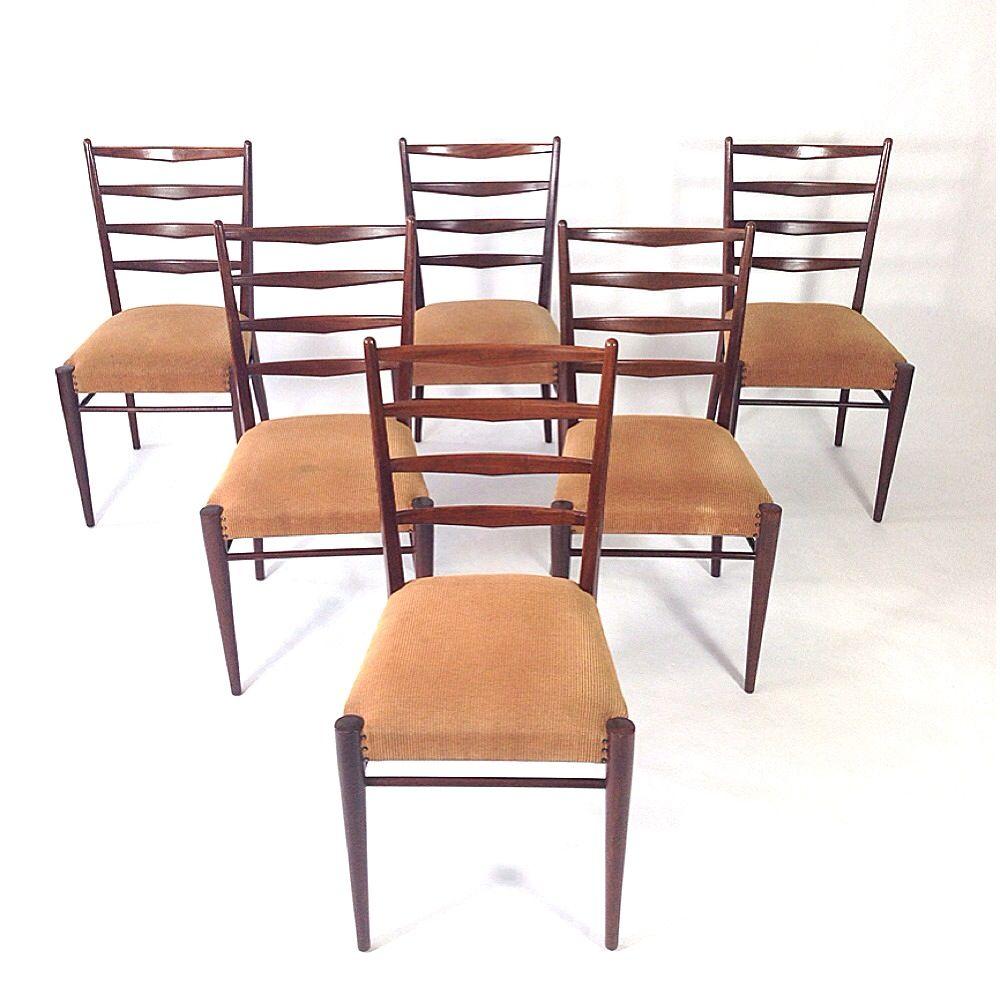 esszimmerst hle von cees braakman f r pastoe 1950er 6er. Black Bedroom Furniture Sets. Home Design Ideas