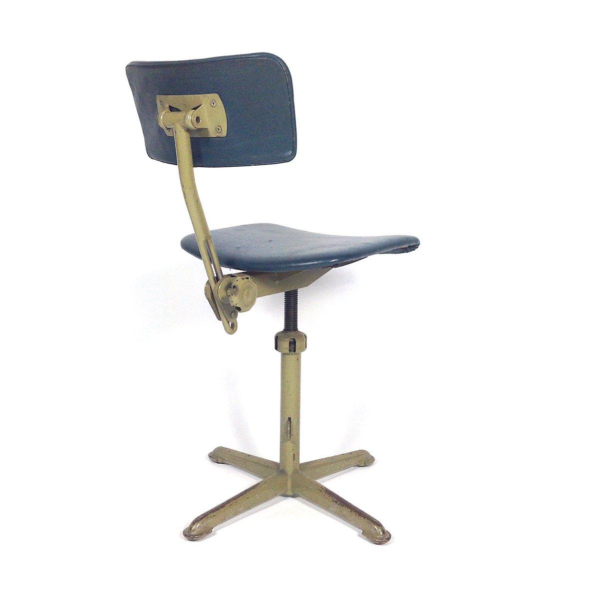 Vintage metal desk chair 1950s for sale at pamono - Chaise bureau originale ...