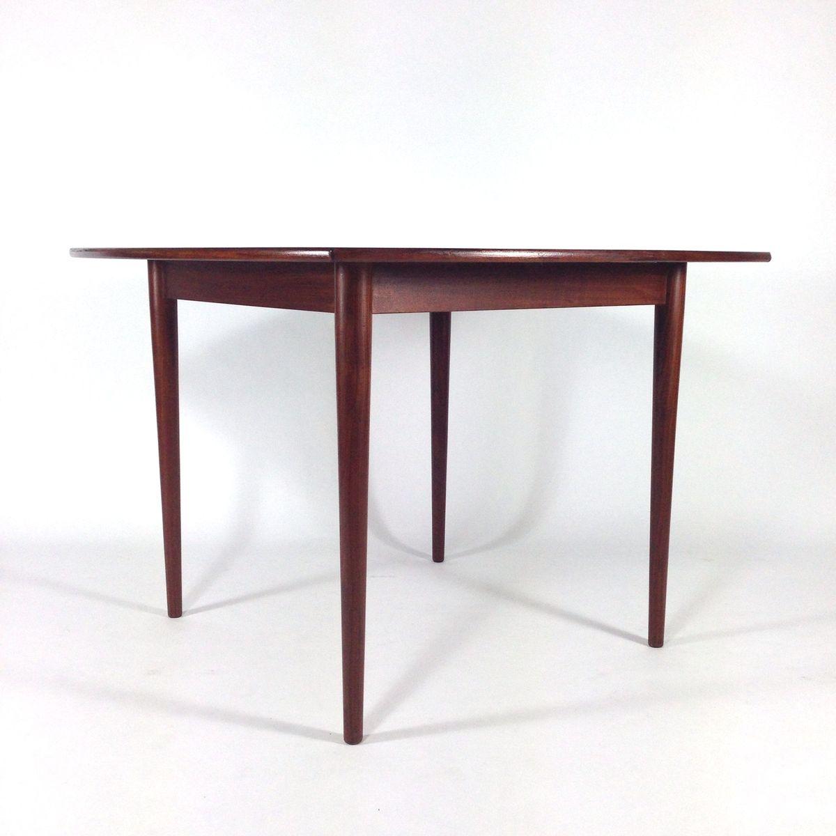 quadratischer d nischer esstisch 1950er bei pamono kaufen. Black Bedroom Furniture Sets. Home Design Ideas