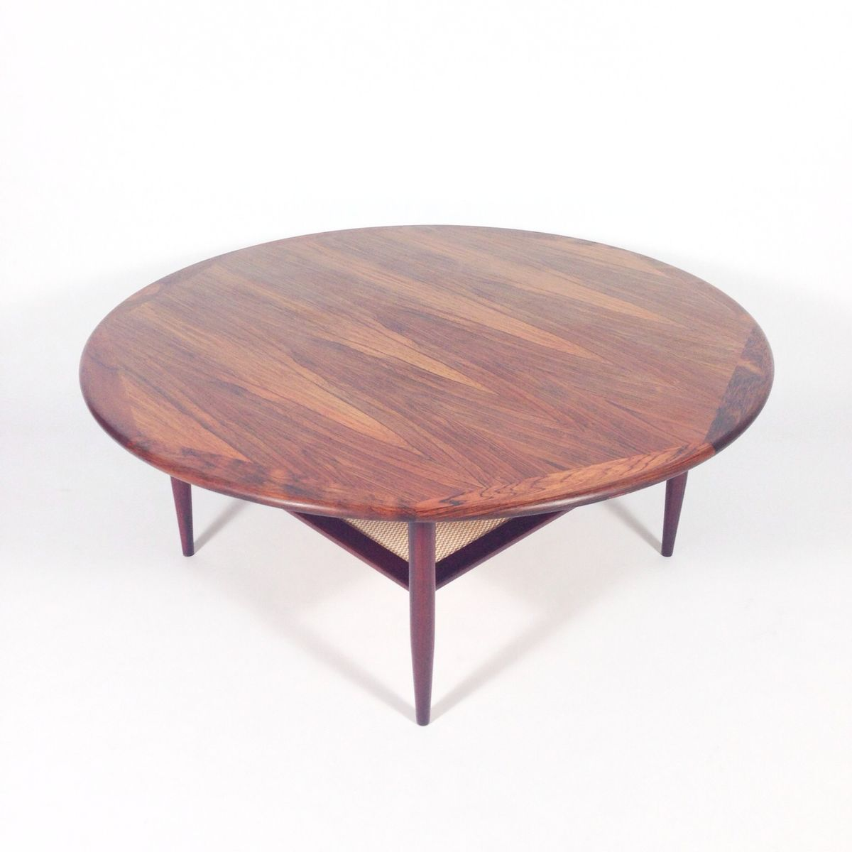 Danish Rosewood Coffee Table With Magazine Rack 1960s For Sale At Pamono