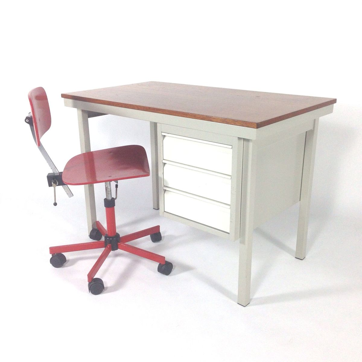 Industrial Small Metal Writing Desk for sale at Pamono