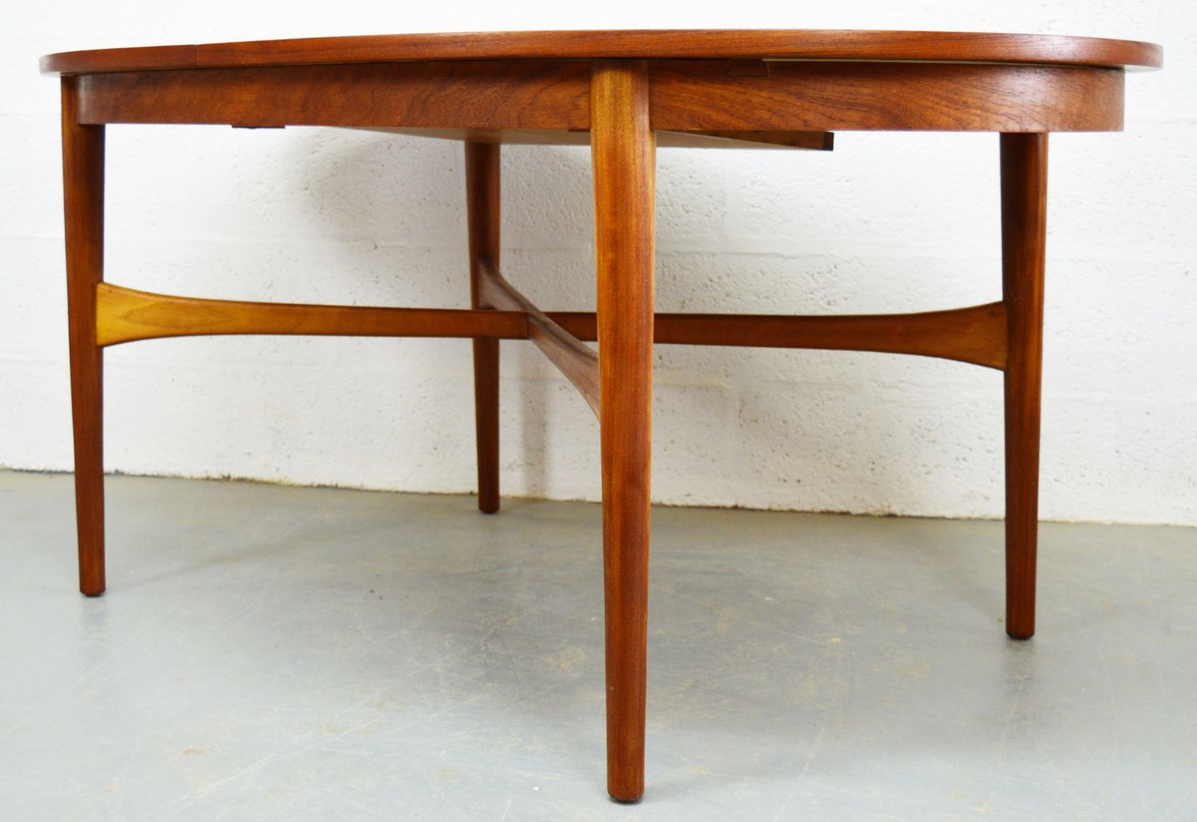 mid century teak extendable oval dining table from beithcraf