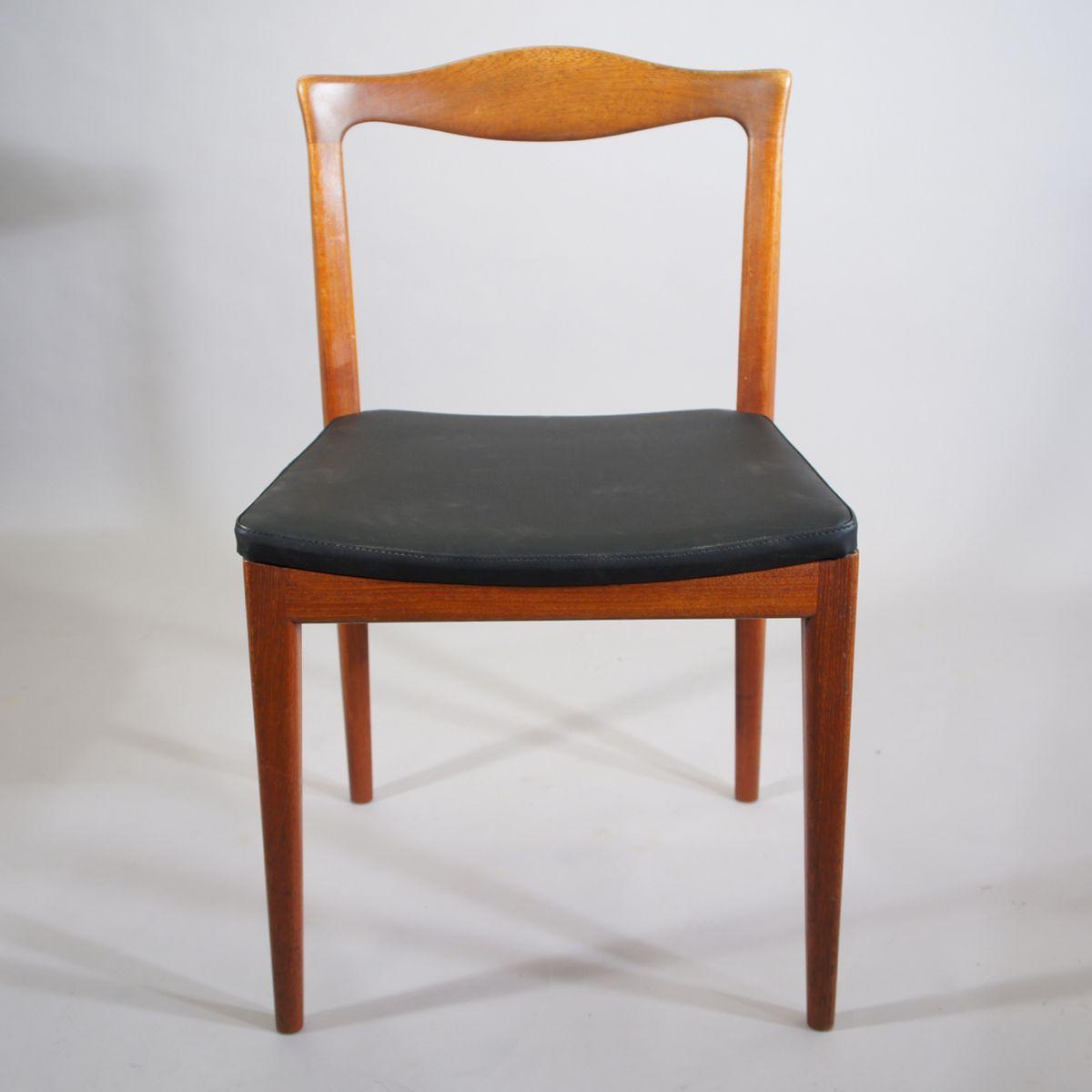 mid century teak st hle 4er set bei pamono kaufen. Black Bedroom Furniture Sets. Home Design Ideas