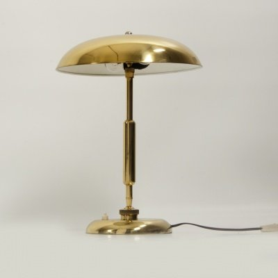 Vintage Brass Table Lamp, 1930s for sale at Pamono