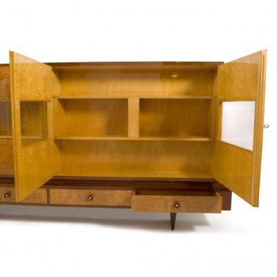 Satinwood maple and mahogany cabinet 1940s for sale at for 1940s kitchen cabinets for sale