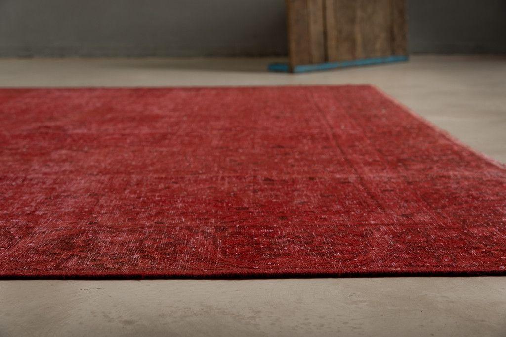 handgekn pfter roter iranischer teppich 1950er bei pamono kaufen. Black Bedroom Furniture Sets. Home Design Ideas