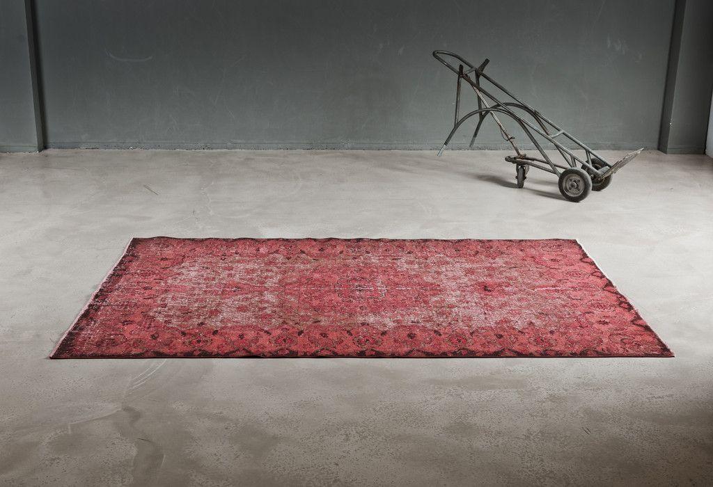 handgekn pfter roter teppich aus anatolien 1970er bei pamono kaufen. Black Bedroom Furniture Sets. Home Design Ideas