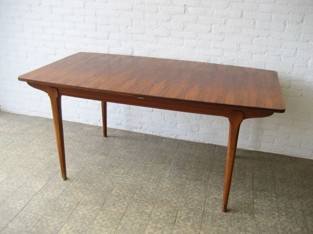 Extendable vintage beech dining table for sale at pamono - Tafel tv vintage ...