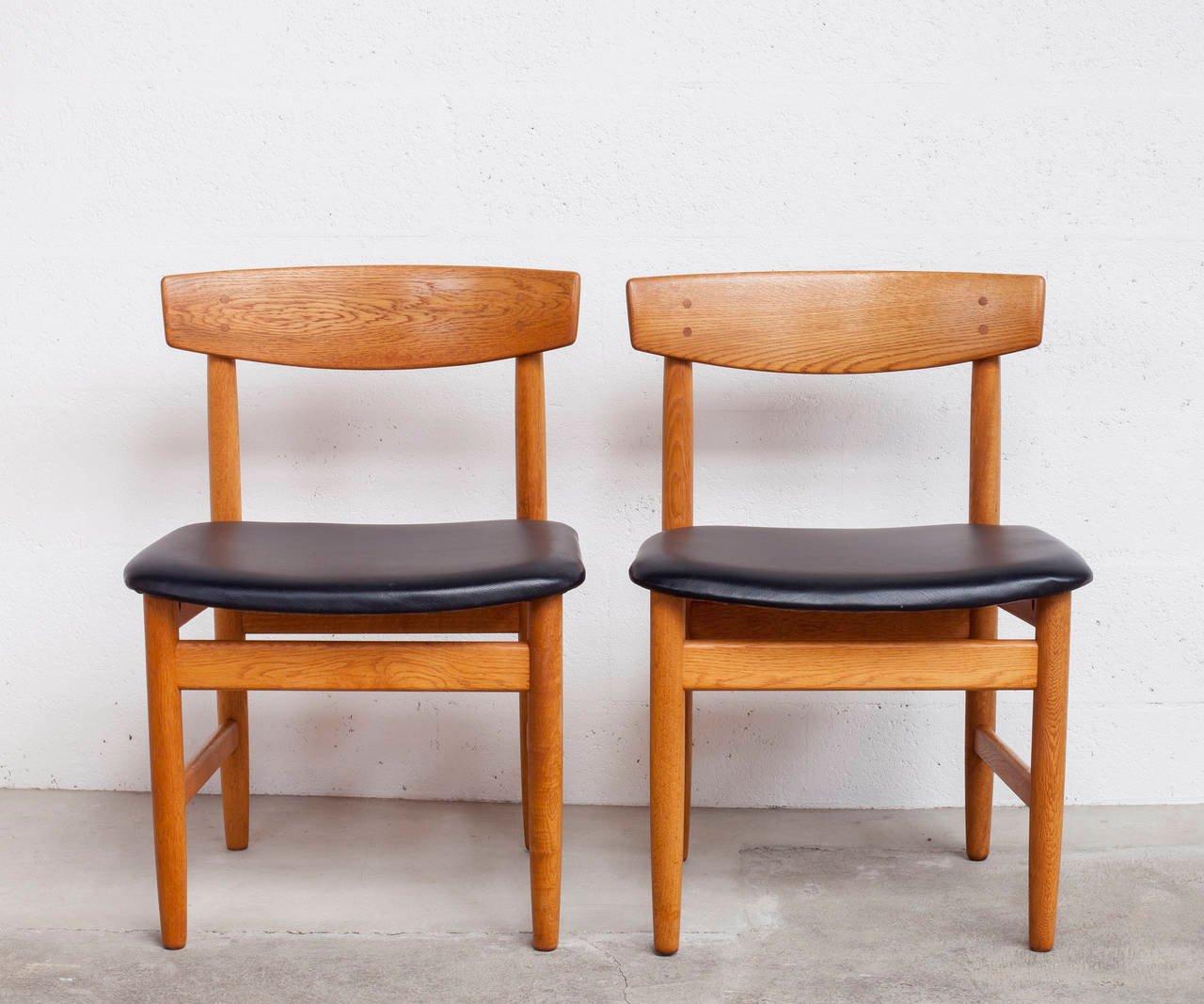 eichenst hle von b rge mogensen f r ab karl andersson 1955 2er set bei pamono kaufen. Black Bedroom Furniture Sets. Home Design Ideas