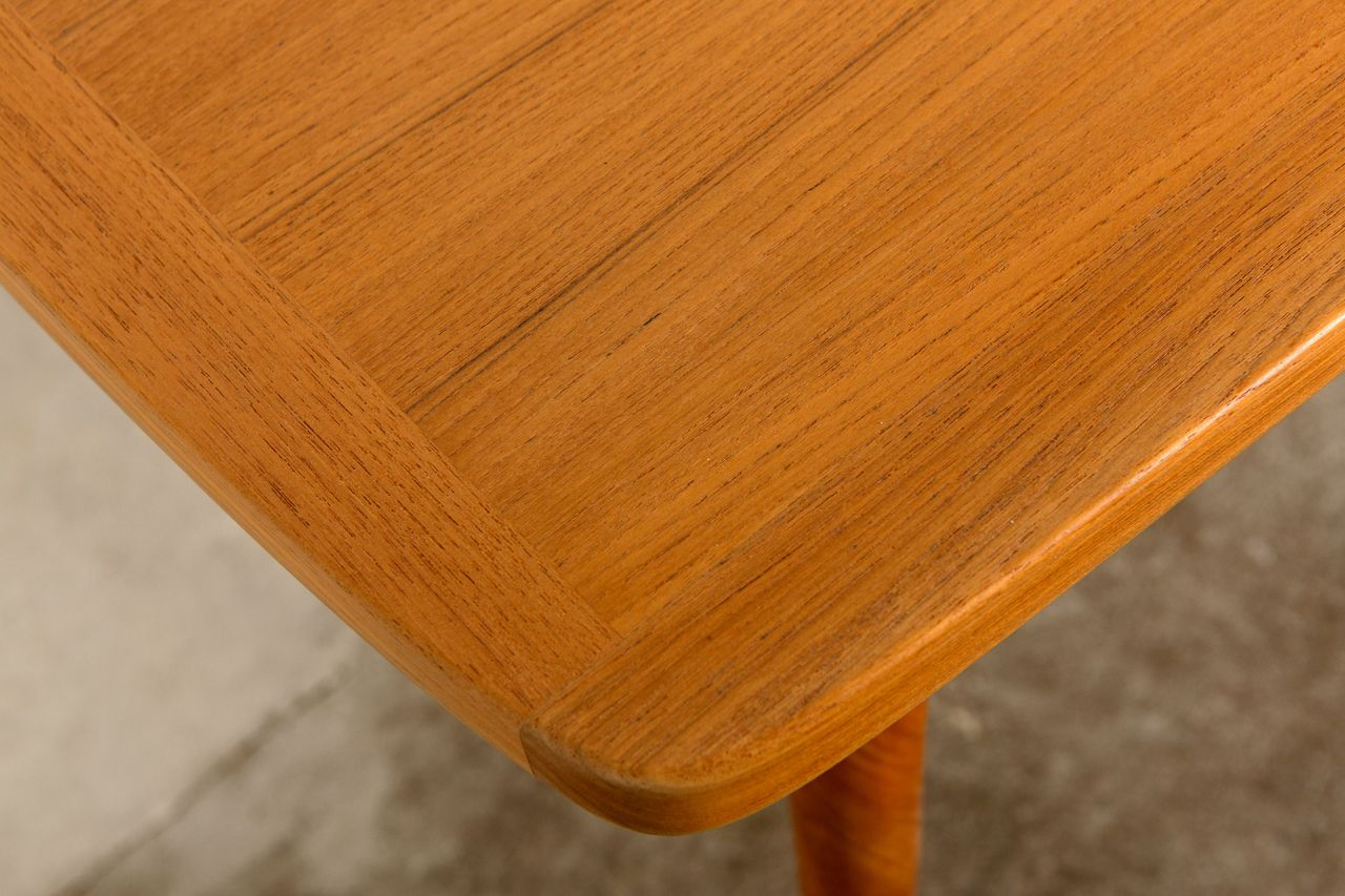 Scandinavian Teak Extendable Dining Table 1960s For Sale At Pamono