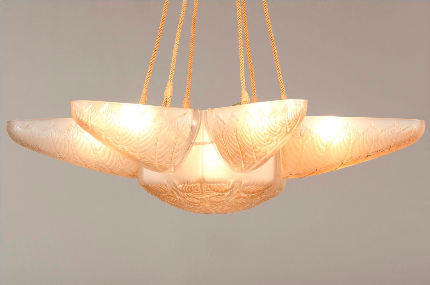Grand chandelier noisetier par ren lalique en vente sur pamono - Grand chandelier sur pied ...