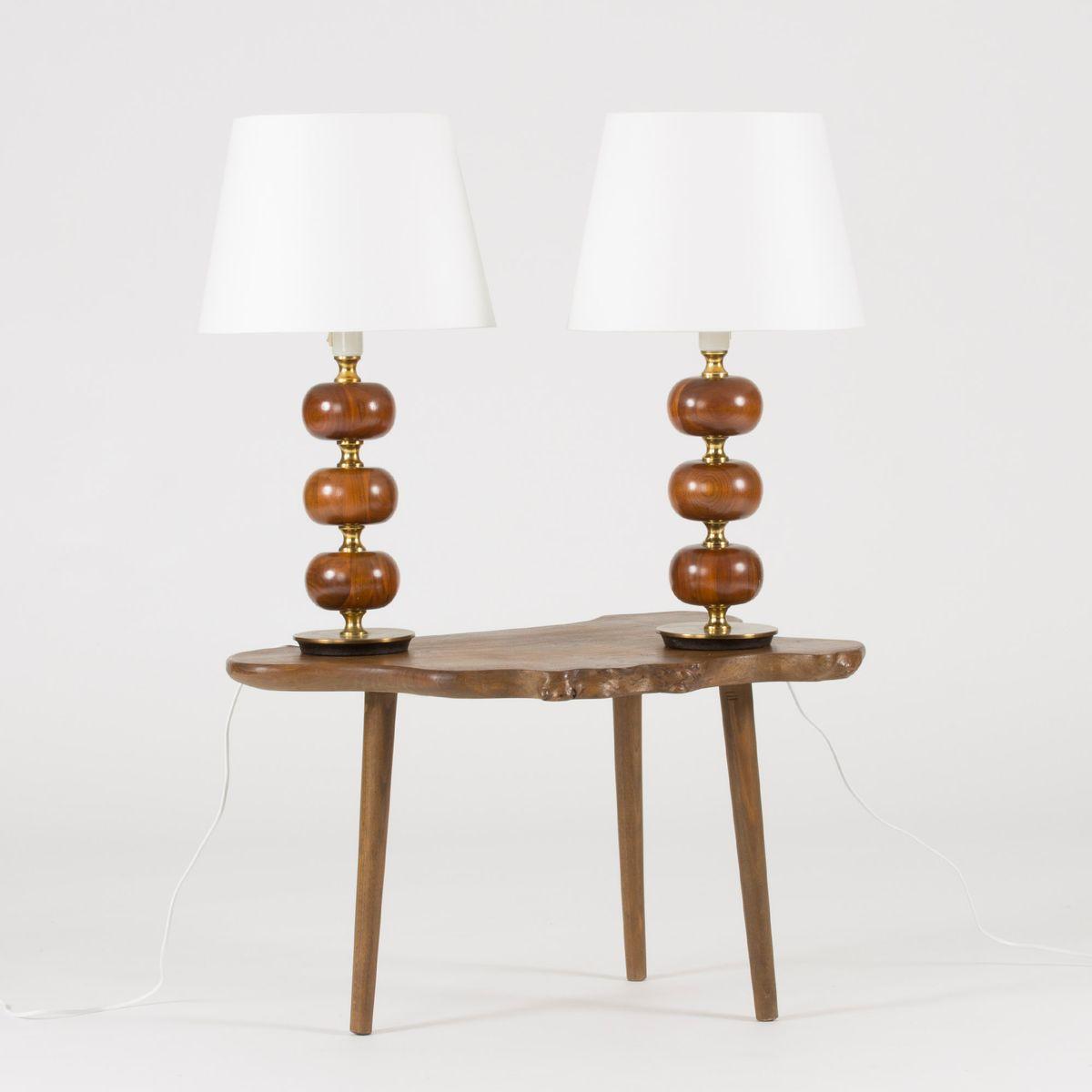Mahogany table lamps by henrik blomqvist for trans stilarmatur price per set geotapseo Choice Image