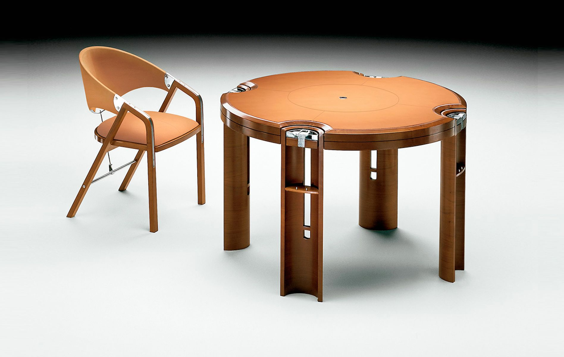 Game Table in Light Walnut by J Tresserra 1987 for sale at Pamono