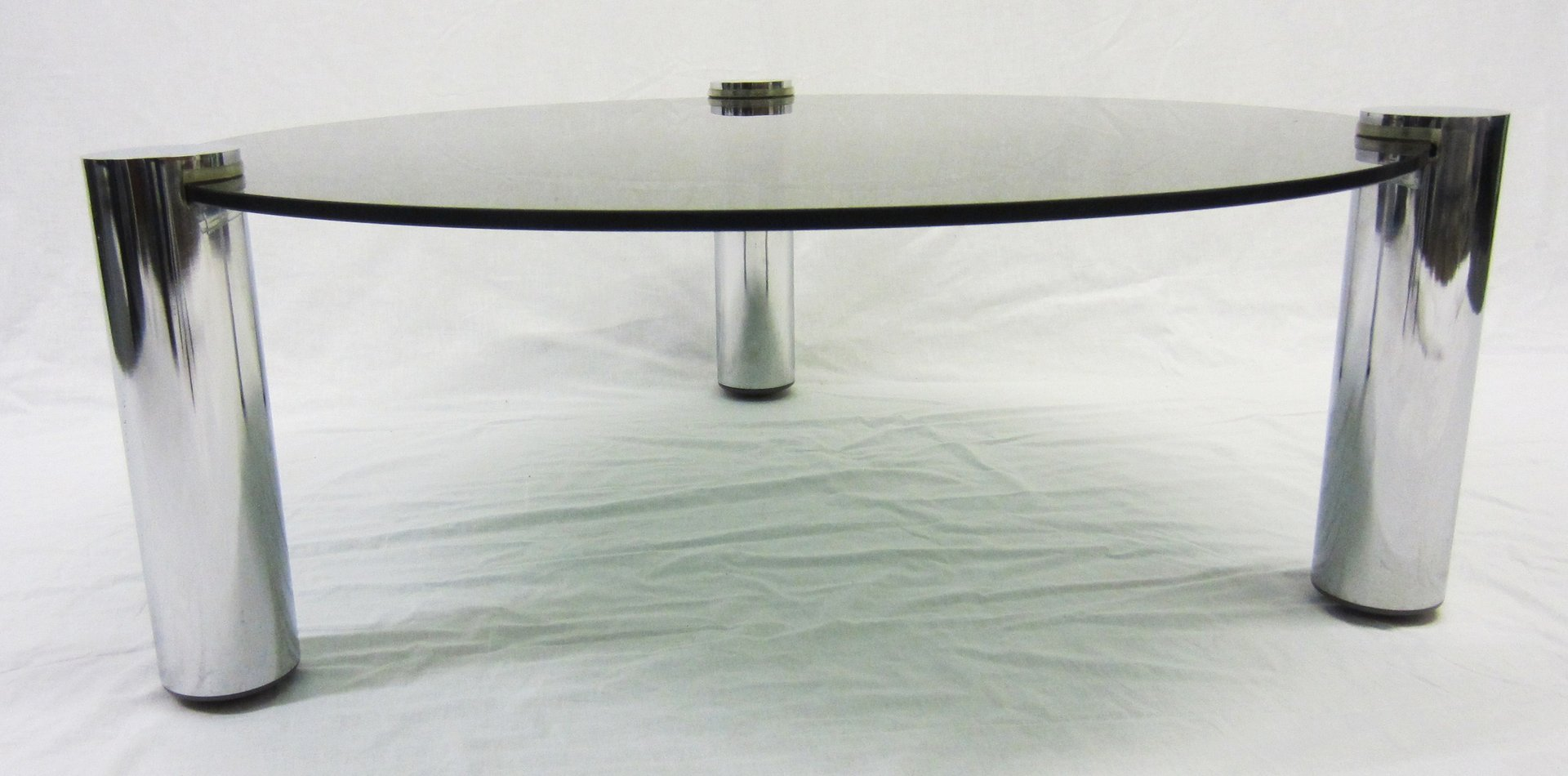 Round glass and chrome coffee table from pieff 1960s for sale at round glass and chrome coffee table from pieff 1960s for sale at pamono geotapseo Gallery