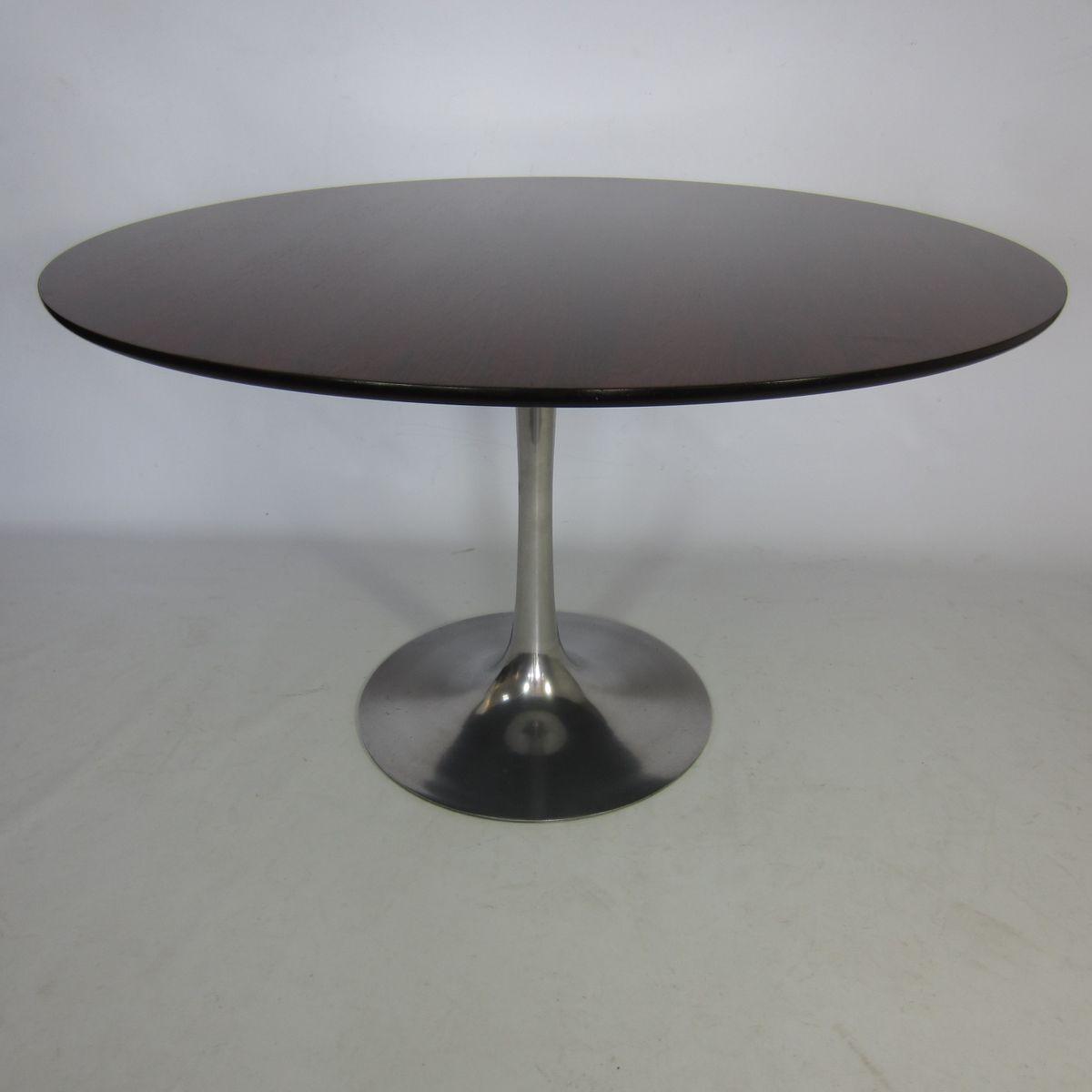 tulpe tisch aus palisanderholz und aluminium von eero. Black Bedroom Furniture Sets. Home Design Ideas