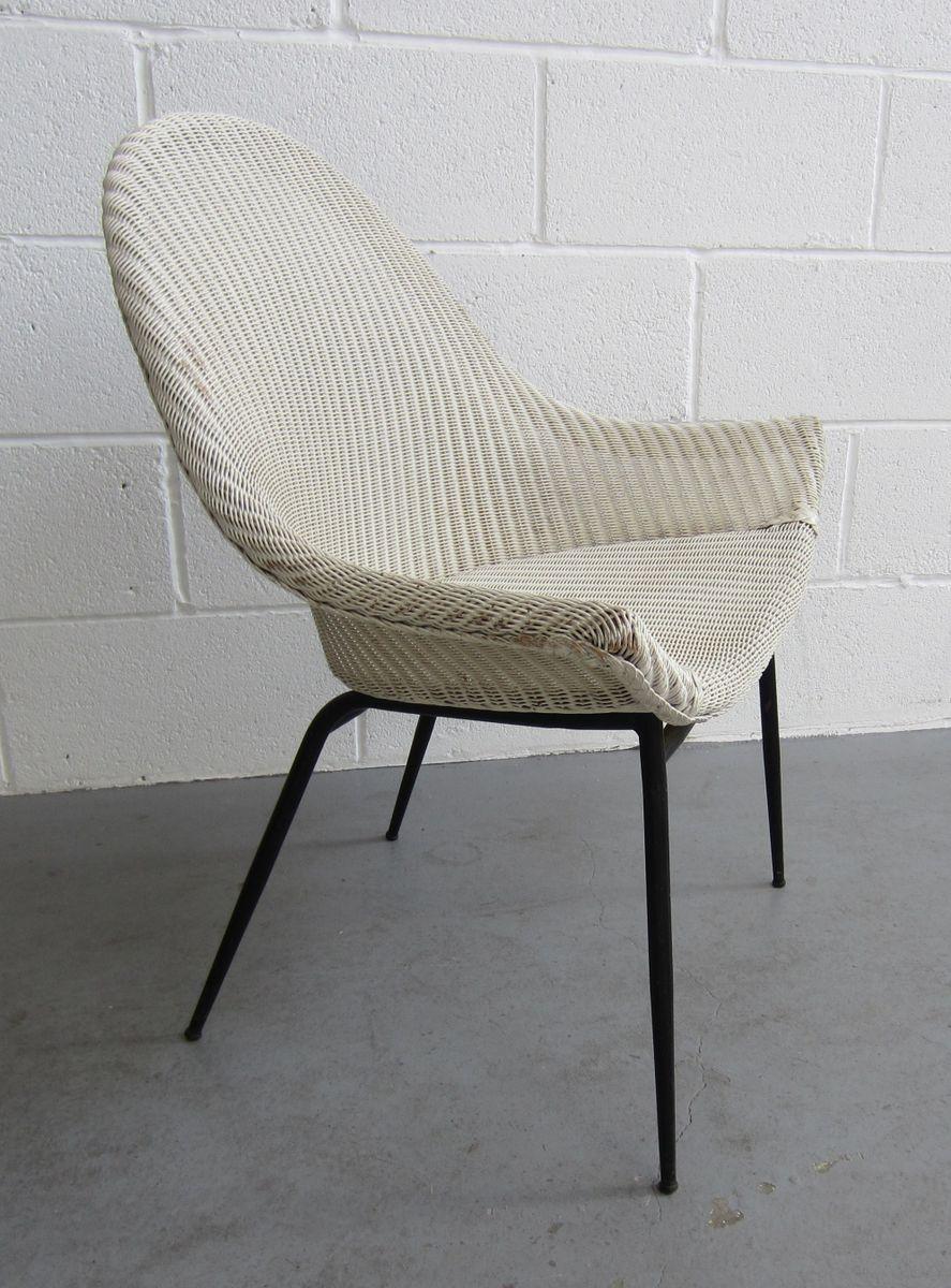 armlehnstuhl von lloyd loom lusty 1950er bei pamono kaufen. Black Bedroom Furniture Sets. Home Design Ideas