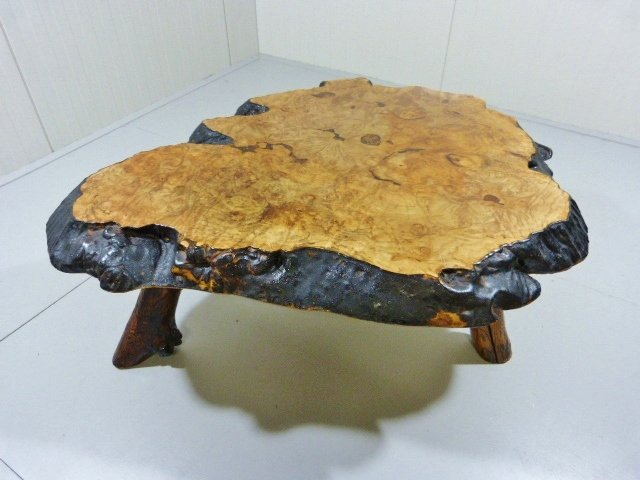 table basse tronc darbre par frank armich sr jr 1960s 3 previous - Table Basse Tronc D Arbre