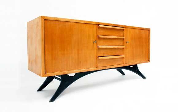 italienisches vintage sideboard bei pamono kaufen. Black Bedroom Furniture Sets. Home Design Ideas