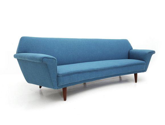 4 sitzer d nisches vintage sofa bei pamono kaufen. Black Bedroom Furniture Sets. Home Design Ideas