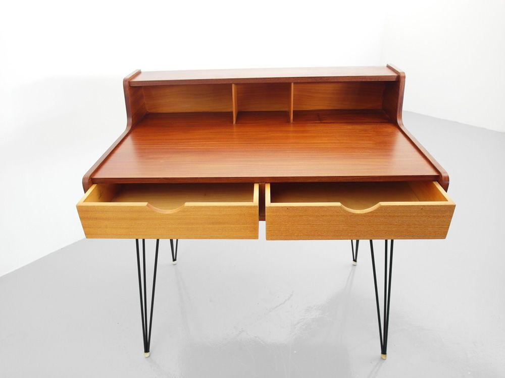 Hairpin Desk by Cees Braakman for Pastoe for sale at Pamono