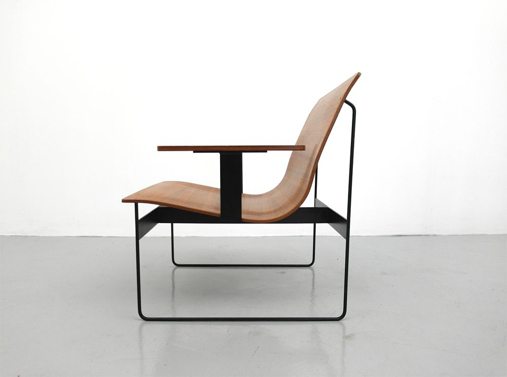 Teak Plywood Lounge Chair by Günter Renkel for REGO 1959 for sale at Pamono