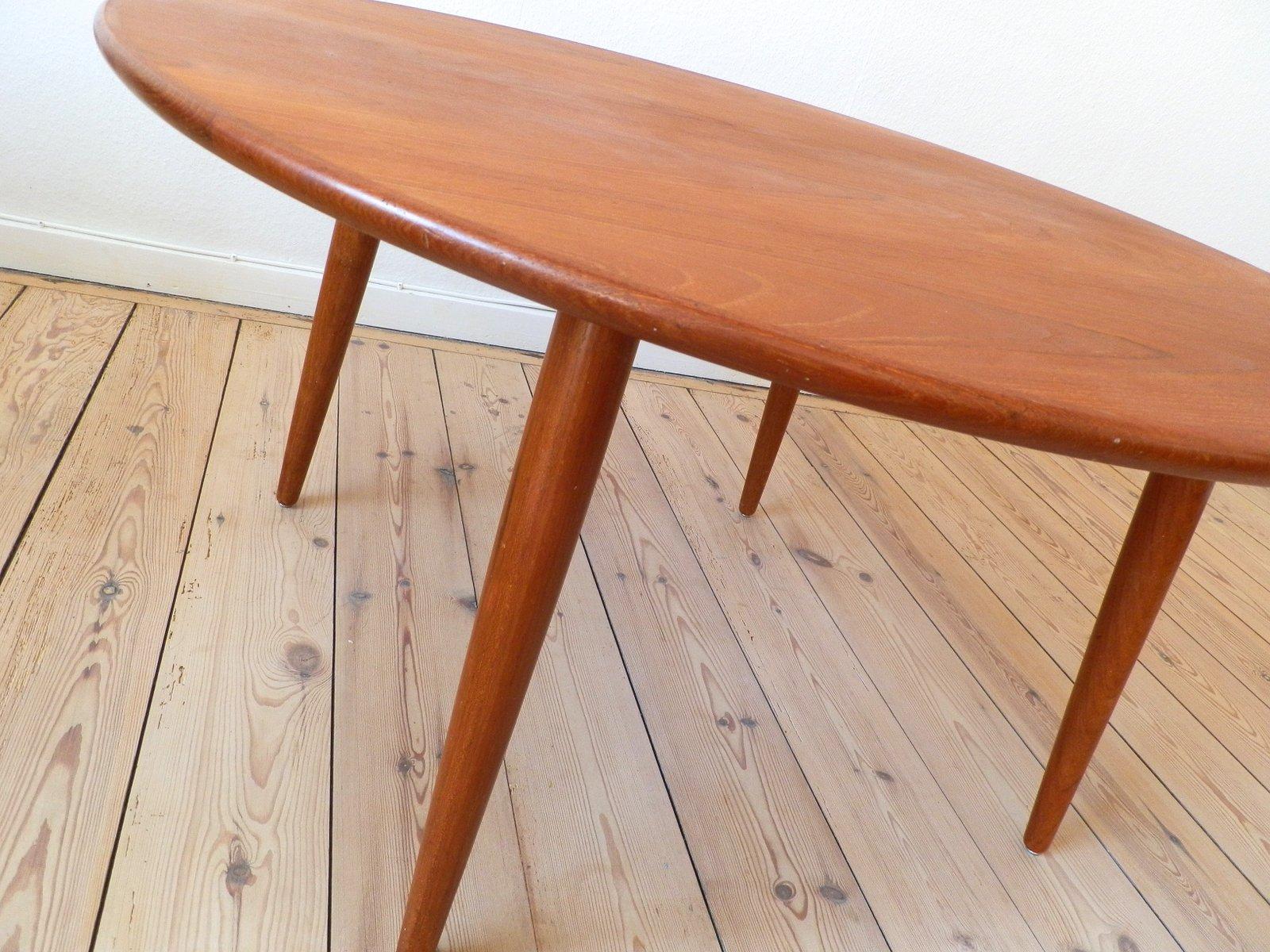 Scandinavian Round Teak Coffee Table 1960s for sale at Pamono