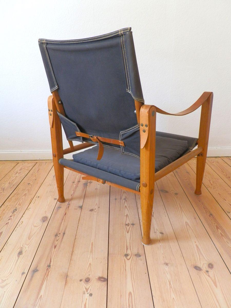 skandinavischer safari stuhl von kaare klint f r rud. Black Bedroom Furniture Sets. Home Design Ideas