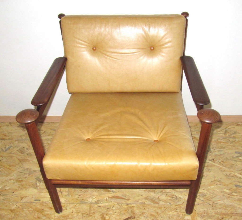 lounge stuhl von wiesner hager 1965 bei pamono kaufen. Black Bedroom Furniture Sets. Home Design Ideas