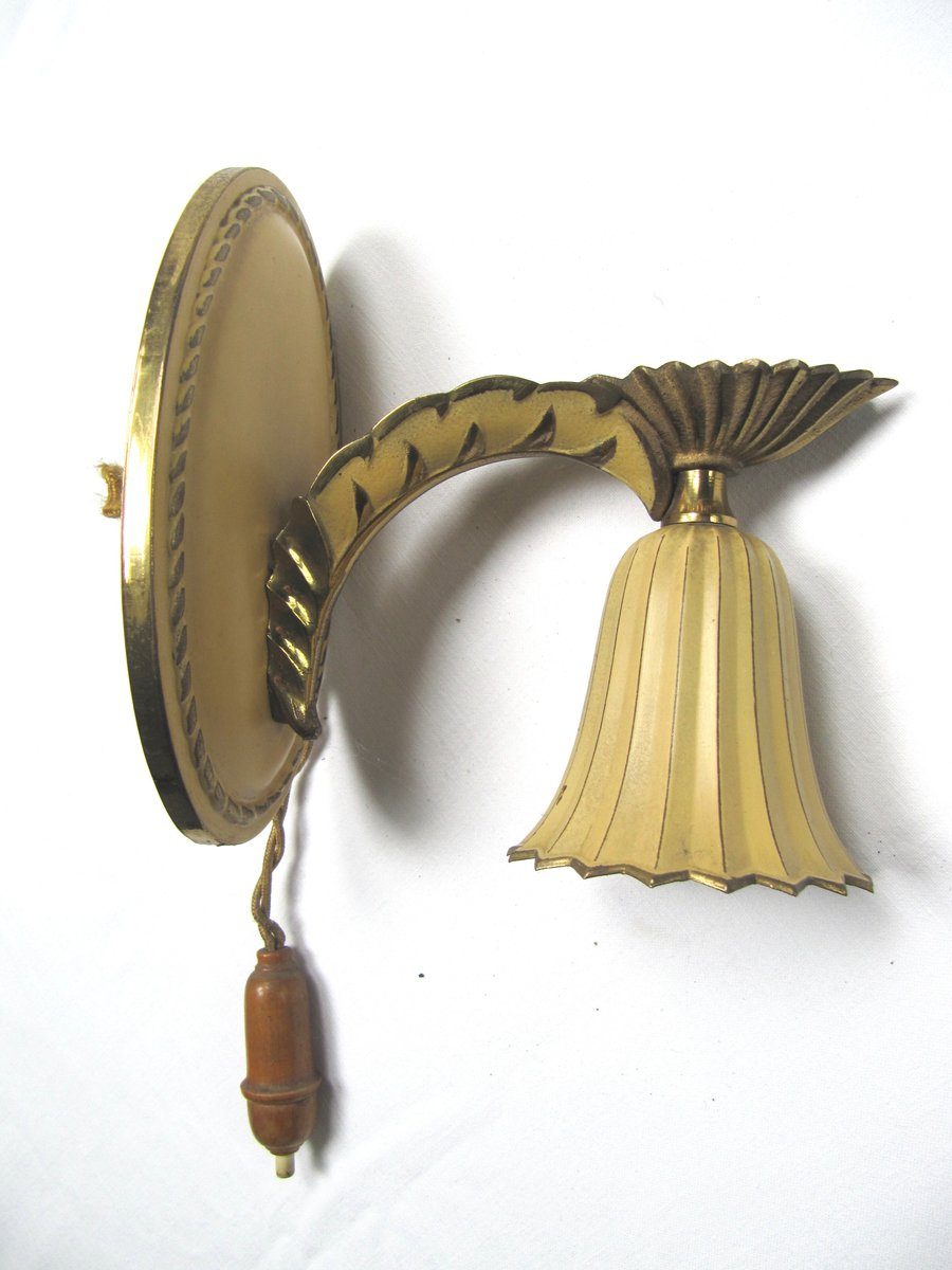 Wall Sconces Set Of 2 : Vintage Wall Sconces, 1920, Set of 2 for sale at Pamono