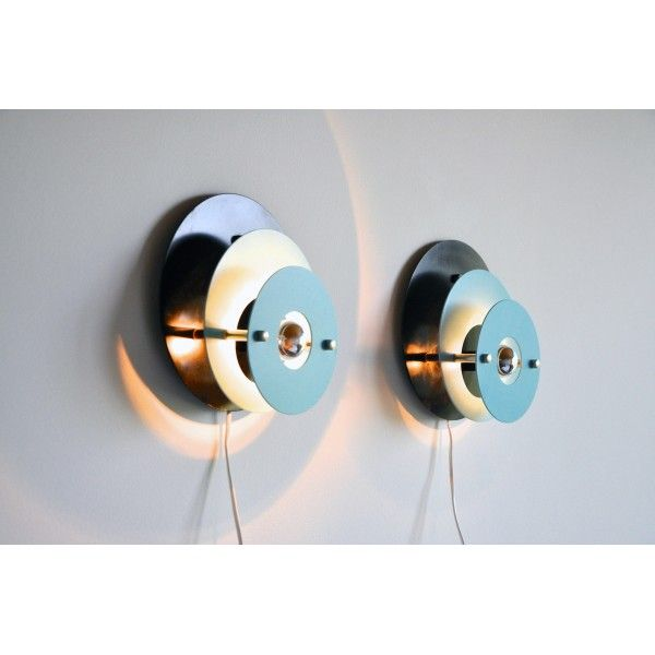 Vintage Metal Wall Lights : Vintage Metal Wall Lights, 1960s, Set of 2 for sale at Pamono