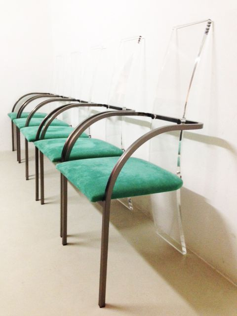 Lucite Dining Chairs By Maison Jansen Set Of 6 For Sale At Pamono