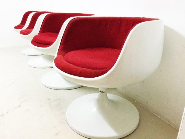 Fiberglass Cognac Chairs by Eero Aarnio 1960s Set of 4 for sale