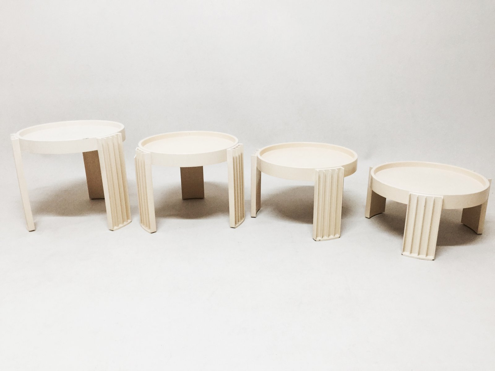 Amazing photo of Nesting Tables by Gianfranco Frattini for Cassina Set of 4 for sale  with #4A3725 color and 1600x1200 pixels
