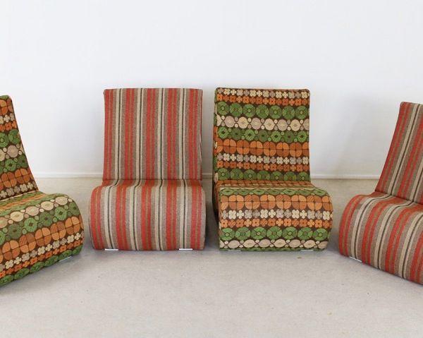 amoebe st hle von verner panton f r airborne 4er set bei pamono kaufen. Black Bedroom Furniture Sets. Home Design Ideas