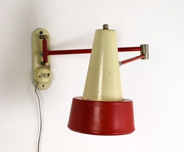 Wall Mounted Scissor Lamp : Vintage Wall Mounted Scissor Lamp from Hala Zeist for sale at Pamono