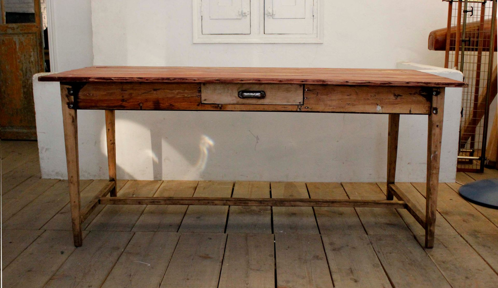 Vintage French Farm Kitchen Table For Sale At Pamono