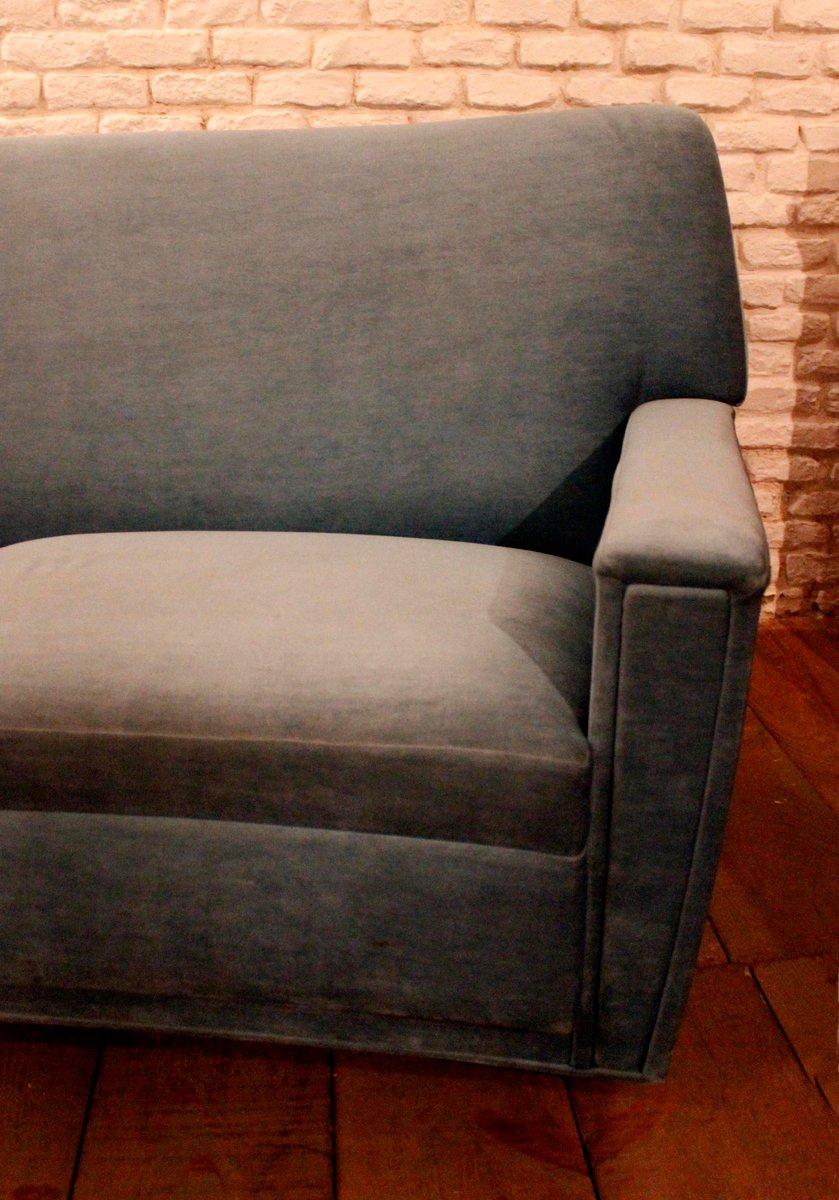Vintage blue velvet sofa 1970s for sale at pamono for Blue velvet sectional sofa for sale