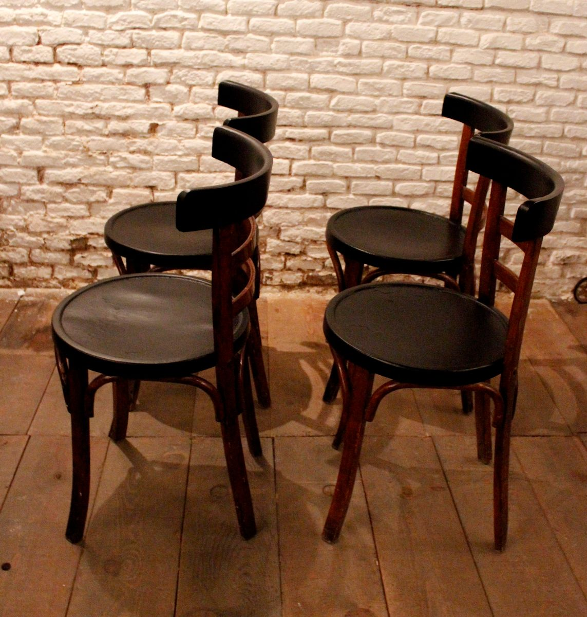Vintage Pinewood Dining Chairs Set Of 4 For Sale At Pamono