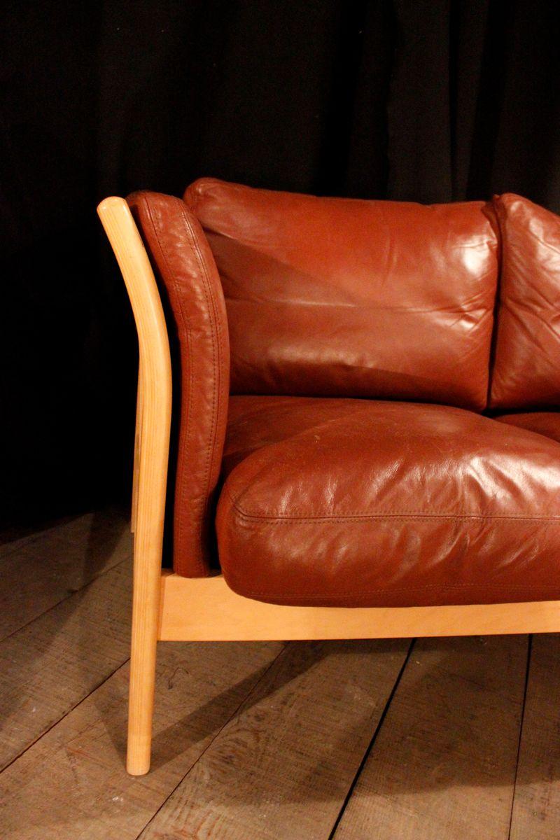 leder buchen 2 sitzer sofa 1970er bei pamono kaufen. Black Bedroom Furniture Sets. Home Design Ideas