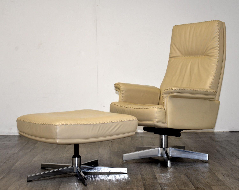 ds 35 sessel und ottomane von de sede 1970er 2er set bei pamono kaufen. Black Bedroom Furniture Sets. Home Design Ideas