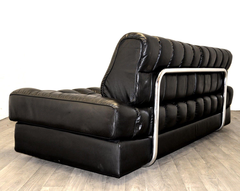 schwarzes ds 85 leder schlafsofa von de sede 1960er bei. Black Bedroom Furniture Sets. Home Design Ideas