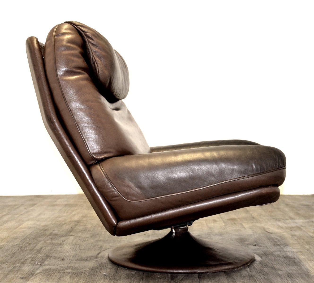 vintage sessel und ottomane von de sede 1970er bei pamono. Black Bedroom Furniture Sets. Home Design Ideas