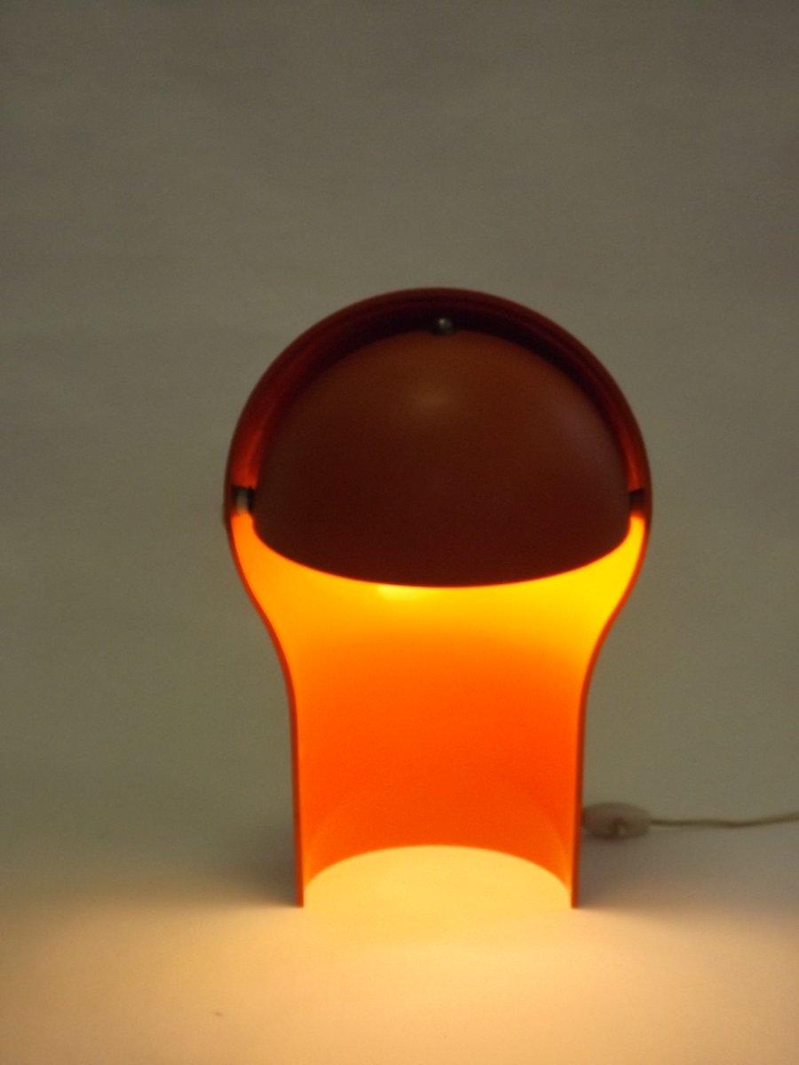 lampe vintage orange par vico magistretti 1965 en vente sur pamono. Black Bedroom Furniture Sets. Home Design Ideas