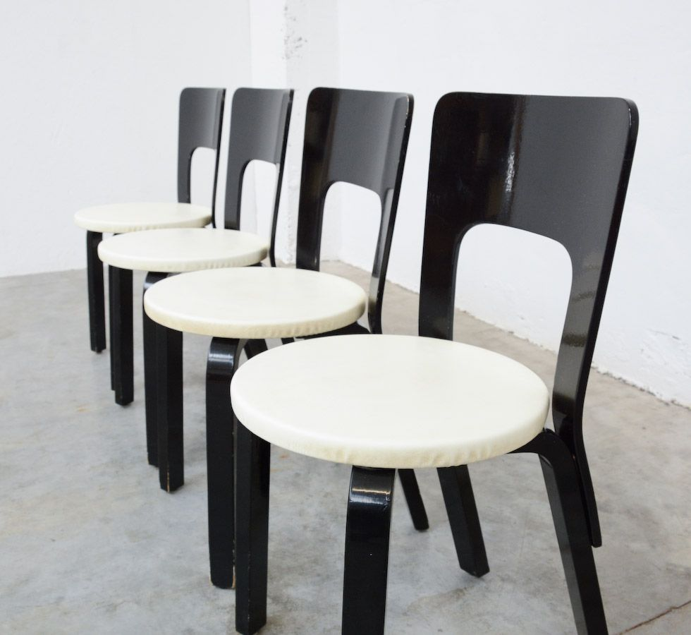 Dining Chairs by Alvar Aalto for Artek 1950s Set of 4  : dining chairs by alvar aalto for artek 1950s set of 4 4 from www.pamono.com size 980 x 900 jpeg 102kB