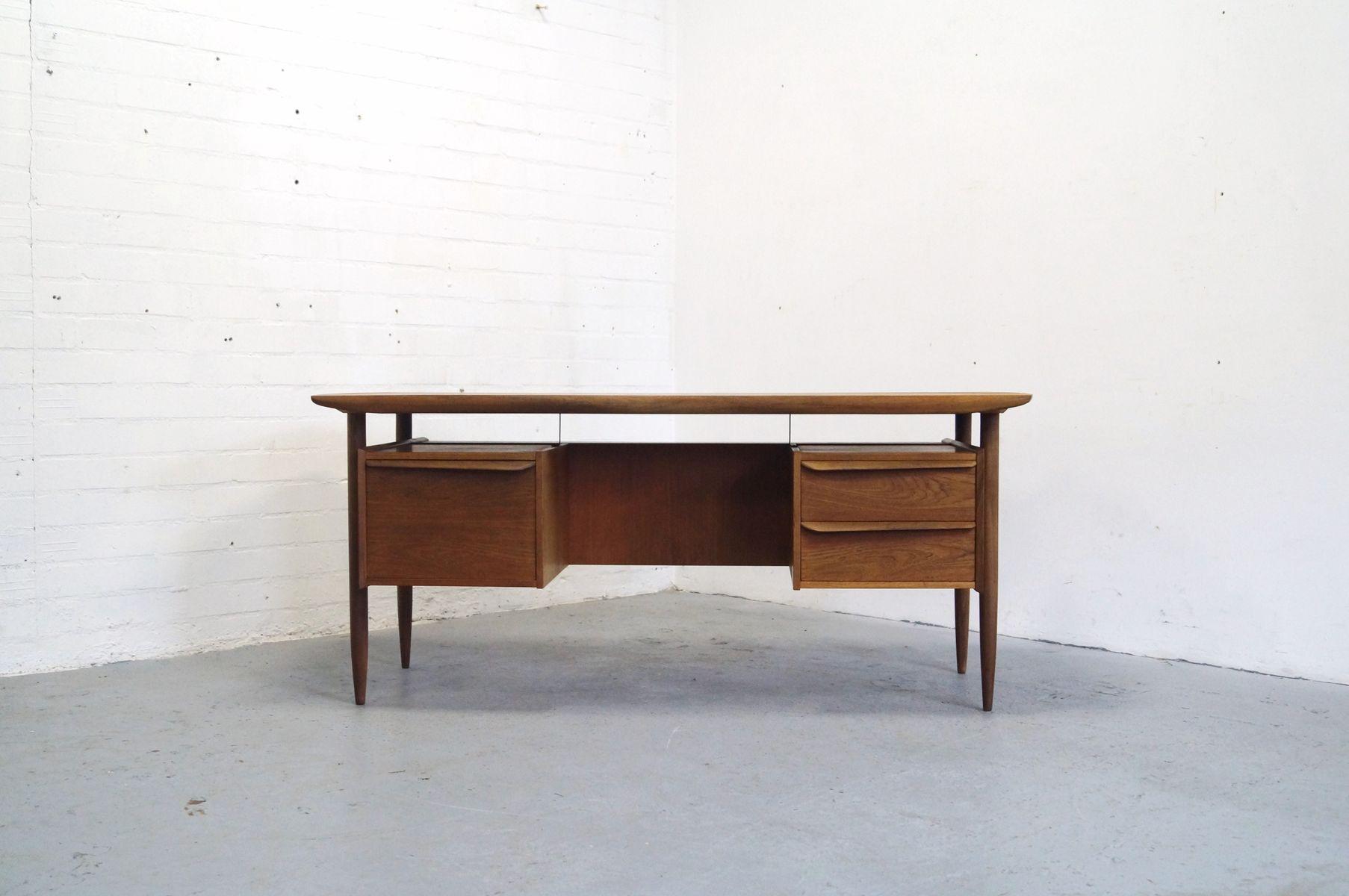 Vintage teak bureau by tijsseling 1950s for sale at pamono for Bureau retro