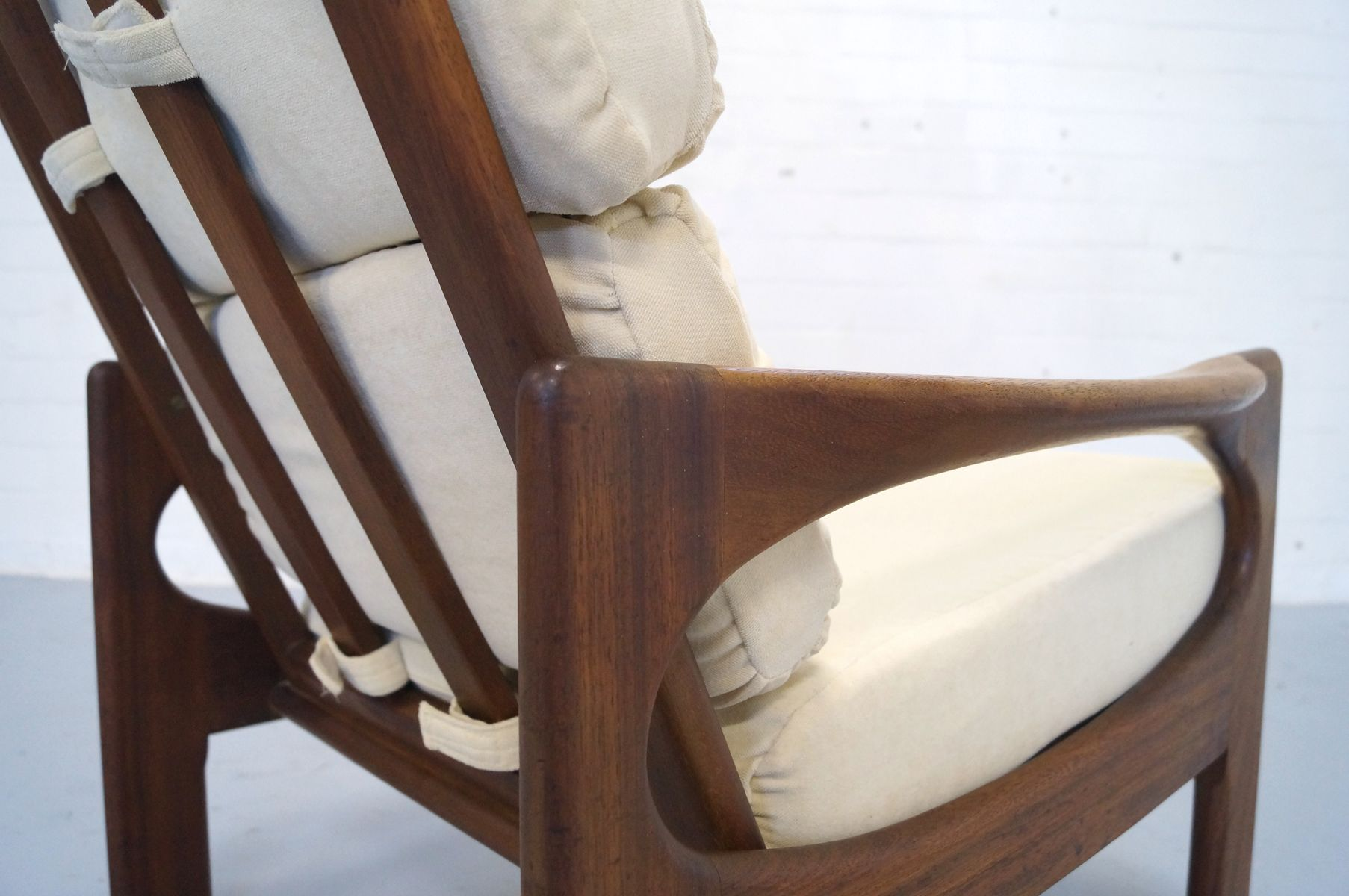 Mid century scandinavian teak easy chair 1960s for sale for Z chair mid century